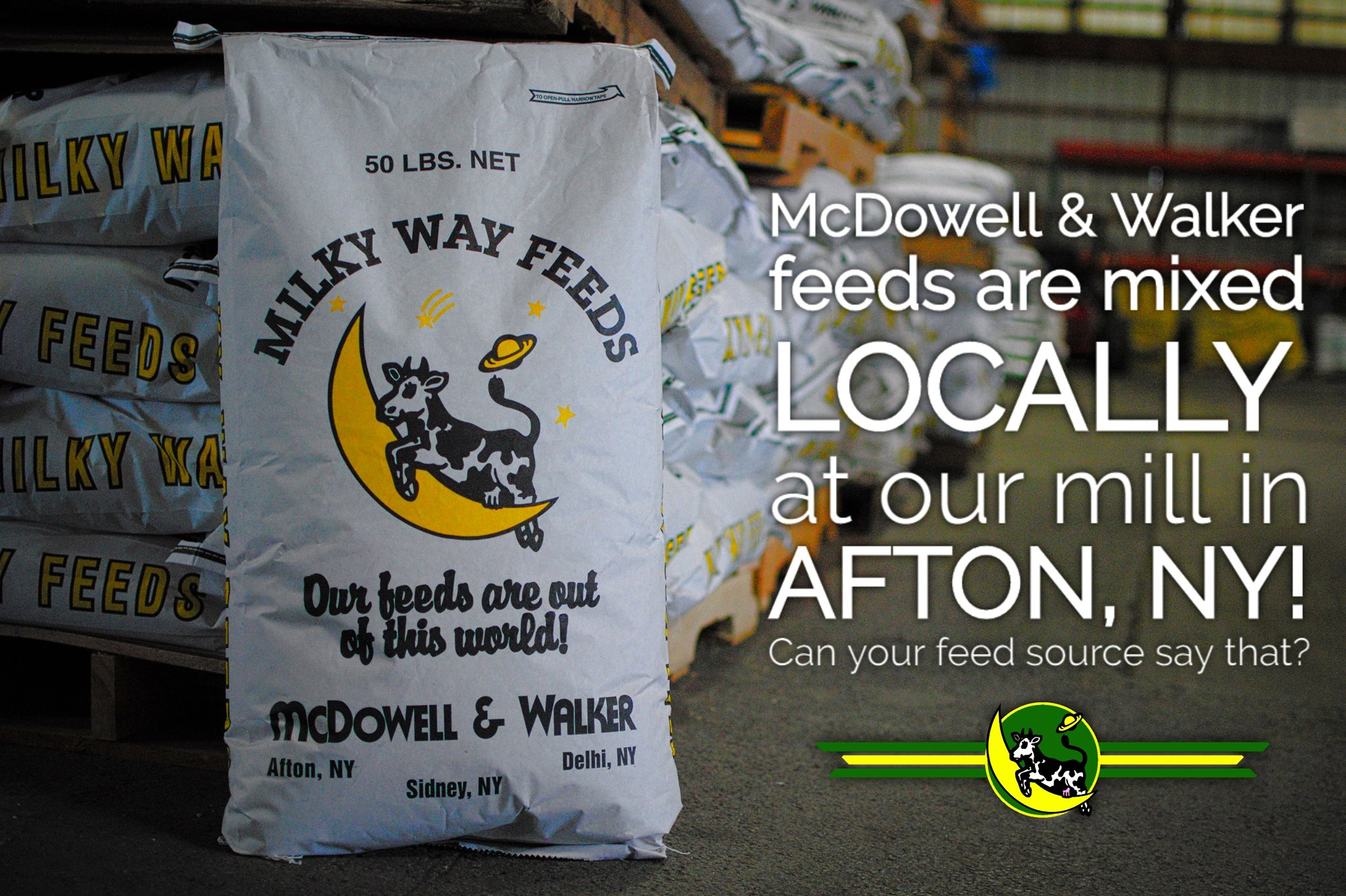 feed locally mixed in Afton